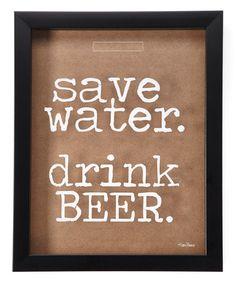 'Drink Beer' Cork/Bottle Cap Holder #zulily #zulilyfinds