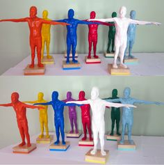 Alejandra Zermeño. All those beautiful boys. Open arms. Small sculptures.