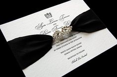 Old Hollywood glam wedding invitations. Gorgeous.