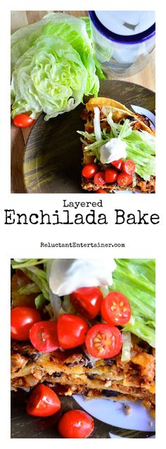 Layered Enchilada Bake at ReluctantEntertainer.com