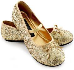 TOPSELLER! Sparkle Ballerina Shoes Child (gold) $29.99