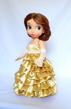 Yellow ball gown + red cloak/ doll clothes for Disney animator doll Disney Barbie Dolls, Disney Princess Dolls, Disney Animator Doll, Girl Dolls, Baby Dolls, Disney Animators Collection Dolls, Doll Repaint, Diy Dress, Princesas Disney