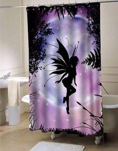 Fairi Moon Shower Curtain Customized Design For Home Decor