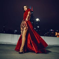 Exotic Red Ball gown with Waist Cape #dressmaker #fashion #styleblogger #chicagoprom #chicagofashionbloggers #eveningwear #sundress #fashionblogger #chicagodesigner Dressmaker, Cape, Ball Gowns, Exotic, Women Wear, Red, How To Wear, Clothes, Dresses
