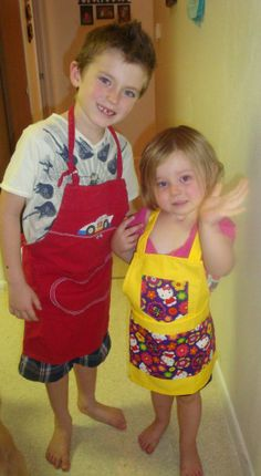 Little aprons made by Fried Green Aprons