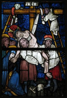 Stained Glass Panel with the Deposition.  Date:     15th century. Culture:     German.