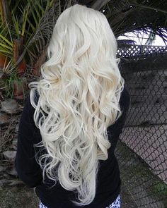 Platinum blonde.