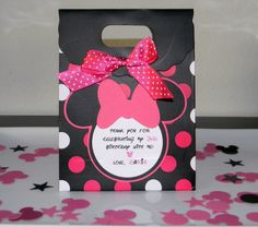 Minnie Mouse Birthday Party Favor Bags  Black/Pink by maniandme, $17.00