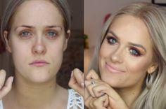 Por Dentro... em Rosa: Sem o movimento das mãos, blogueira faz maquiagens...