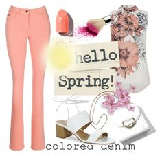 """""""Colored denim"""" by elza-345 ❤ liked on Polyvore featuring PUR and Tahari"""