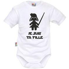 Body bébé geek : je suis ta fille - Bodies bébé rigolos - SiMedio