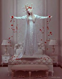 ART by Natalie Shau. Natalie Shau is mixed media artist and photographer of Russian and Kazakhstan descent Foto Portrait, Foto Art, Mixed Media Artists, Dark Beauty, Oeuvre D'art, Photo Manipulation, Dark Art, Madonna, Fantasy Art