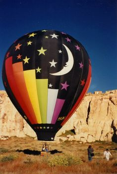 """Flight over """"Sky City"""" the Acoma Pueblo in Acoma, NM in the """"Moon Balloon"""". Acoma is the oldest inhabited Pueblo in the northern hemisphere. The """"Moon Balloon"""" is owned by Steve Shope of Mesa, AZ and piloted by Steve Shope and David Bristol of Sautee, GA. Albuquerque Balloon Festival, Albuquerque Balloon Fiesta, Moon Balloon, Big Balloons, Air Balloon Rides, Hot Air Balloon, Air One, Balloon Flights, Air Ballon"""
