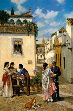 Joaquín Turina y Areal. Plazuela sevillana, s.f. Colección Carmen Thyssen-Bornemisza en préstamo gratuito al Museo Carmen Thyssen Málaga