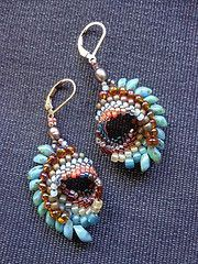 youtube, beading, cellini earrings - Google Search