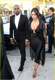 Kim Kardashian & Kanye West Are Perfect Pair at Friend's Wedding