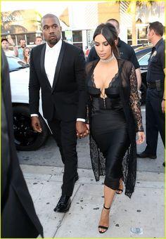 Kim Kardashian & Kanye West Are Perfect Pair at Friend's Wedding