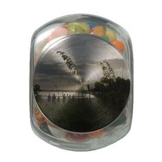 Volleyball at the Beach Glass Candy Jars