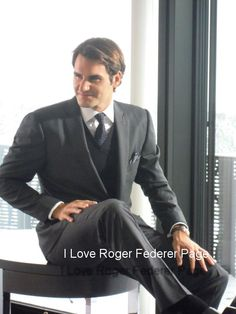 Roger Federer. More fashion. Can you imagine the future, when we have all 3 men of Roger's family all dressed up in fab fashion. I am sure the new twin boys will follow him in his love of fashion, and maybe just maybe Tennis too!!