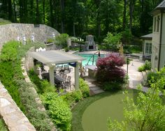Landscape Gazebos Design, Pictures, Remodel, Decor and Ideas - wish our yard sloped up instead of down.