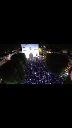 Vista aerea de la celebración en la plaza luego de habernos coronado como campeones!