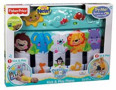 Fisher-Price Precious Planet Kick and Play Piano Baby Crib Toy Lights Musical