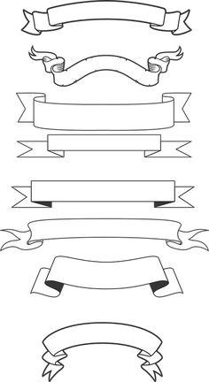 Free generic vector banners image in adobe illustrator . Bullet Journal Lettering Ideas, Bullet Journal Banner, Bullet Journal Writing, Bullet Journal School, Bullet Journal Ideas Pages, Bullet Journal Inspiration, Book Journal, Banner Drawing, Bullet Journal Aesthetic