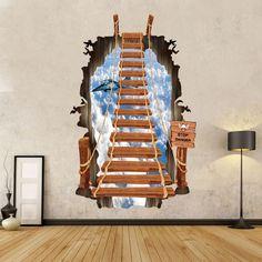 1pc 3d Ladder Wallstickers For Kids Living Room Wallpaper Art Stikers