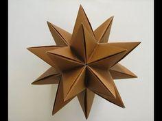to Make an Origami Modular Decorative Star Ball Omega Star)! How to make an origami Modular Decorative Star Ball Omega Star)!How to make an origami Modular Decorative Star Ball Omega Star)! Origami 3d Star, Origami Modular, Origami Paper Folding, Origami And Kirigami, Origami Ball, Oragami, Origami Boxes, Dollar Origami, Origami Ideas