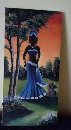 Black Women Art, Black Art, African Art Paintings, Africa Art, Beautiful Fantasy Art, People Illustration, Krishna Art, Diy Canvas Art, African American Art