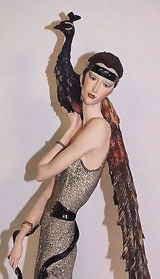 1987-GIUSEPPE-ARMANI-LADY-WITH-PEACOCK-FIGURINE-LIMITED-EDITION-2391-5000-ITALY