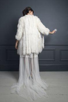 MORGAN SHIRT DRESS & MARIBOU COAT | WEDDING DRESS BY HALFPENNY LONDON
