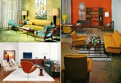 Mid Century Modern Interiors | you see two great examples of authentic Mid-Century Modern interiors ...