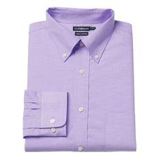 Men's Croft & Barrow® True Comfort Fitted Oxford Stretch Dress Shirt, Size: 16.5-32/33, Med Purple