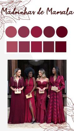 Wedding Ties, Our Wedding, Dream Wedding, Bridesmaid Dress Colors, Wedding Bridesmaid Dresses, April Wedding Colors, Wedding Humor, Burgundy Wedding, Wedding Color Schemes