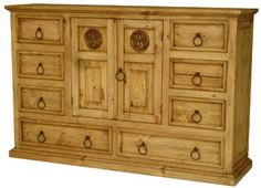 Shop birthday deals transported affordable rustic home decor Rustic Pine Furniture, Pine Bedroom Furniture, Southwest Decor, Southwest Style, Rustic Dresser, Mexican Furniture, Casual Decor, Rustic Western Decor, Bohemian Interior