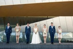Melbourne Museum- what a backdrop!  Katy and Ty's Urban Industrial Style Wedding