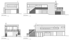 Image 44 of 46 from gallery of North Fork Bay House / Resolution: 4 Architecture. Photograph by Resolution: 4 Architecture Architecture Site Plan, House Architecture Styles, Modern Architecture, Family House Plans, Modern House Plans, House On Stilts, Simple House Design, Container House Design, House Styles