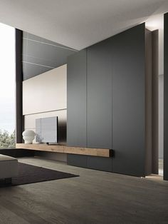 Living room interior storage and interior at the same time! Tv Wall Design: Yes … – Typical Miracle Living Room Modern, Home Living Room, Interior Design Living Room, Small Living, Modern Tv Room, Modern Tv Wall Units, Spacious Living Room, Tv Wall Design, House Design