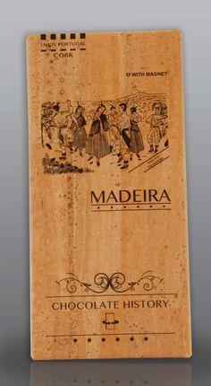 Madeira | Bailinho da Madeira  | Chocolate Negro 48% Cacau 125 g History Of Chocolate, Vintage World Maps, Cocoa, Feelings, Wood