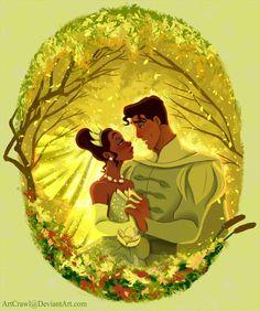 Princess Tiana and Prince Naveen Disney Pixar, Walt Disney, Disney Couples, Disney Fan Art, Cute Disney, Disney Magic, Tiana And Naveen, Prince Naveen, Disney Princess Tiana