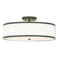 Livex Lighting Park Ridge Bronze Semi-Flushmount Light | 62629-07 | Destination Lighting