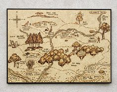 Fairy Tale Map Land Of A Thousand Rainbows 8 X 10 By