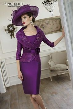 purple Veni Infantino by Ronald Joyce mother of the bride dress