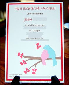MyNeed2Craft: Bridal Shower Invitations...