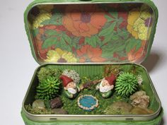 Gnome fishermen in altoid tin by ComfortInClay on Etsy, $35.00