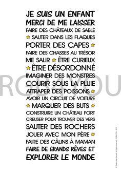 Affiche Numérique - Vie d'enfant - texte à télécharger