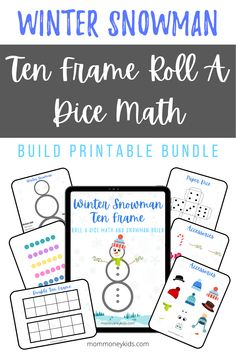 We created an easy and fun winter snowman ten frame printable activity to work on counting and math with your young toddler. #wintersnowman, #tenframe, #finemotorskills, #toddlercrafts, #preschool, #math, #counting, #manipulatives, #freeprintable, #kindergarten, #pre-k, #homeschoollife, #homeschooling, Toddler Board Games, Toddler Home Activities, Art Activities For Kids, Toddler Crafts, Preschool Activities, Winter Activities, Winter Crafts For Toddlers, Lego Math, Early Math
