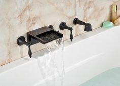 Bathroom Faucets Discount Prices waihilau oil rubbed bronze finish water fall bathtub faucet with