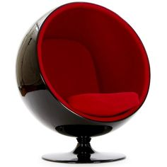 Eero Aarnio Fiberglas Ball Chair ❤ liked on Polyvore featuring home, furniture, chairs, accent chairs, interior design and decor